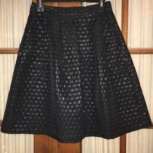 Elle High Waisted Black Textured Skirt